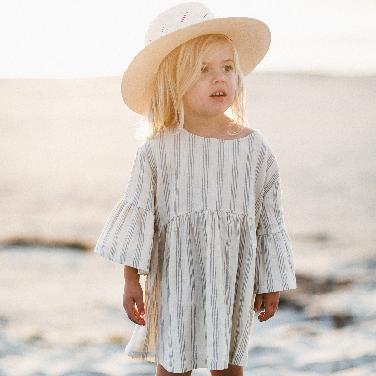 Rylee + Cru Bell Stripe Dress