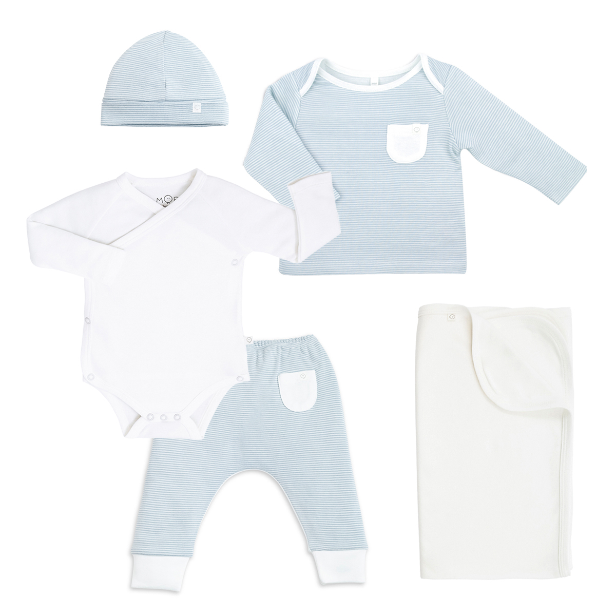 Outfit&SwaddleGiftSetBlue1