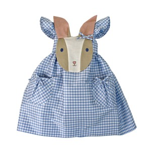 Little Goodall Blue Gingham Bunny Dress