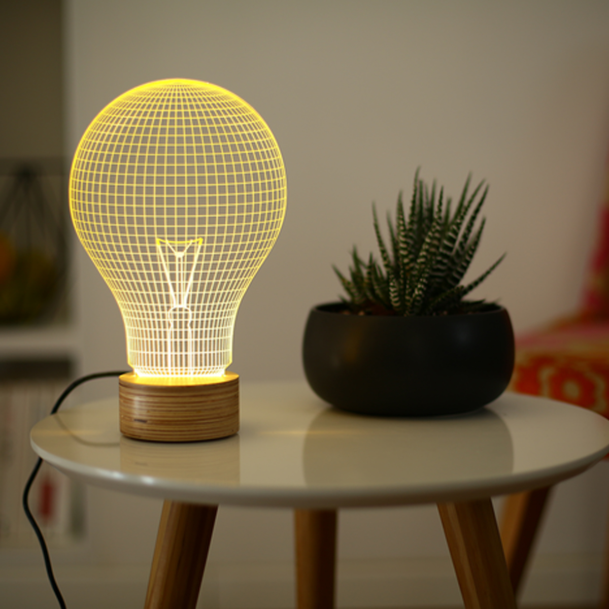 Studio Cheha Yellow Light Bulb Lamp
