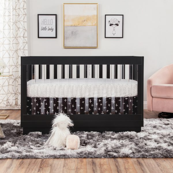 Harlow 3-in1 Convertible Crib White and Acrylic AW19
