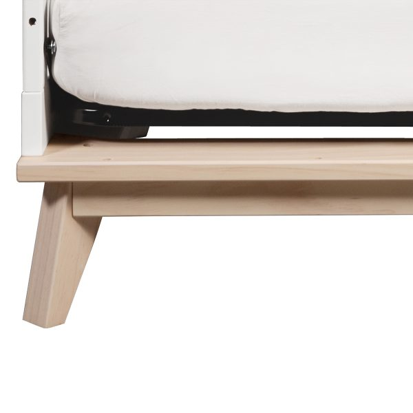 Scoot 3-in-1 Convertible CribToddlerBedConversion Kit in White Washed Natural