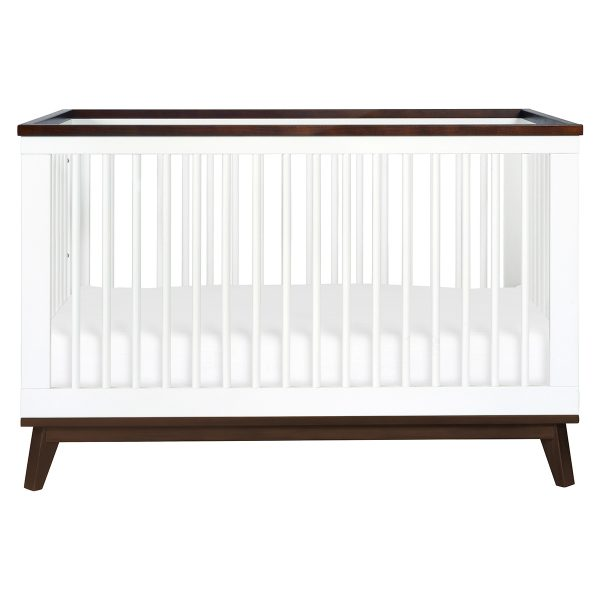Scoot 3-in-1 Convertible Crib White and Walnut AW19