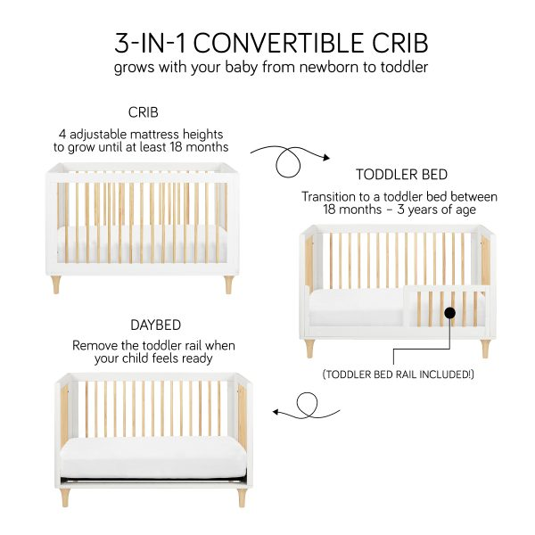 Babyletto Lolly 3-in-1 Convertible Crib with Conversion Kit 3