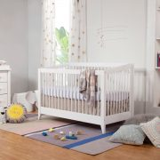 Babyletto Sprout 4-in-1 Convertible Crib with Toddler Bed Conversion Kit White AW19
