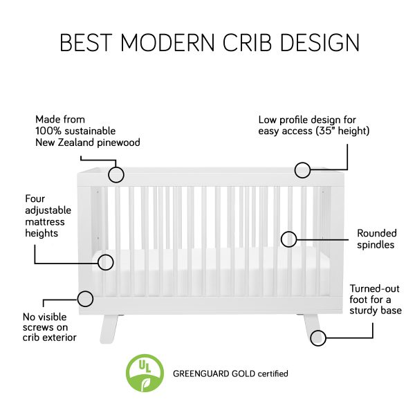Babyletto Hudson 3-in-1 Convertible Crib with Conversion Kit 1