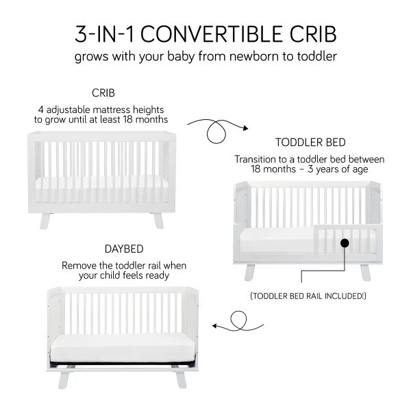 Babyletto Hudson 3-in-1 Convertible Crib with Conversion Kit 2