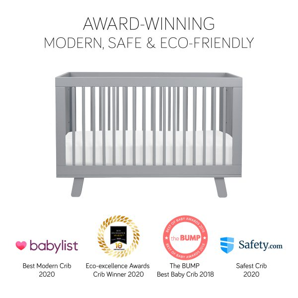 Hudson3-in-1 Convertible Crib in Gray 1