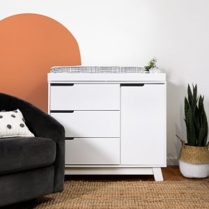 Babyletto Hudson 3 Drawer Dresser with Removable Changing Tray White