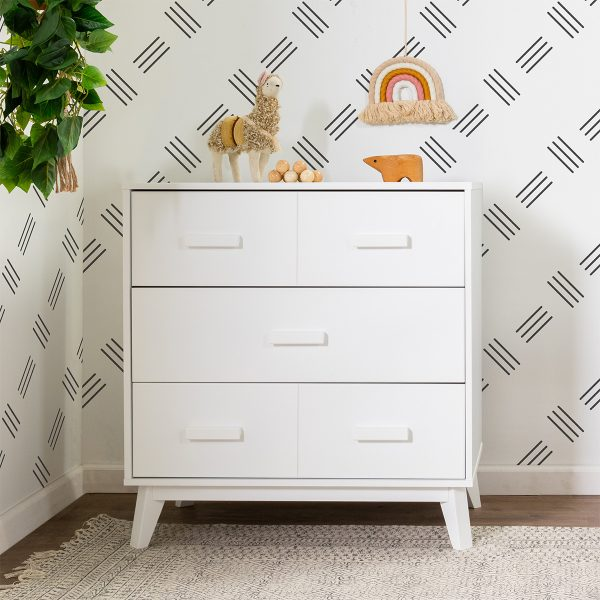 Babyletto Scoot Three Drawer Dresser with Removable Changing Tray1