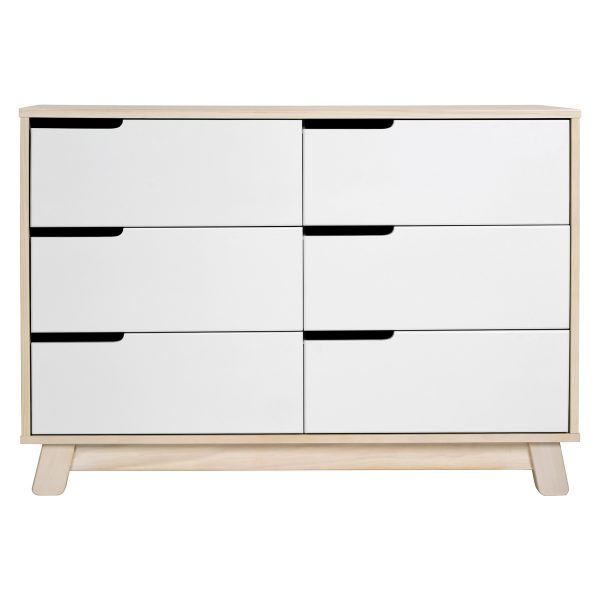 Babyletto Hudson 6-Drawer Double Dresser, Assembled Washed Natural and White3