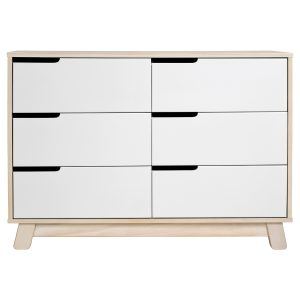 Babyletto Hudson 6-in-1 Drawer Double Dresser Natural + White AW19
