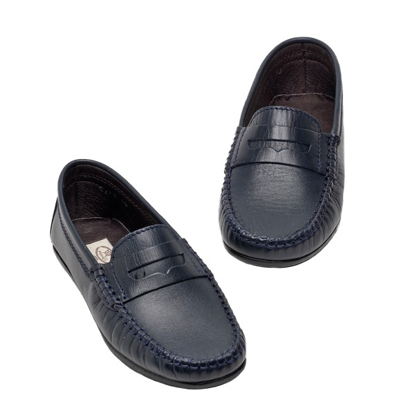 PapouelliSS18BarnieLeatherNavy1