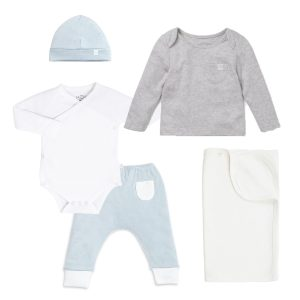 MORI Organic Baby Outfit and Swaddle Gift Set