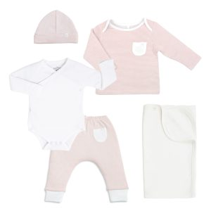 Mori Organic Baby Outfit and Swaddle Gift Set Pink