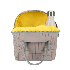 Fluf Zipper Lunch Bag - Grid