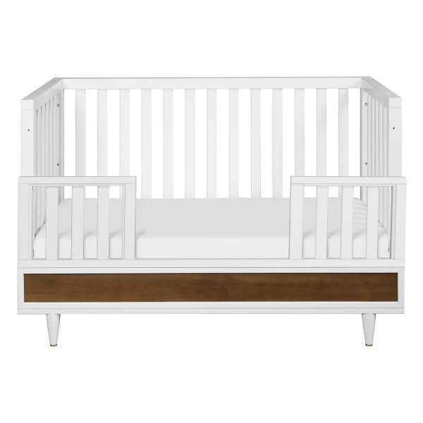 Eero 4-in-1 Convertible Crib White Natural Walnut AW19
