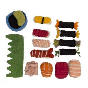 Papoose Felt Bento Box Sushi Set Food Toy