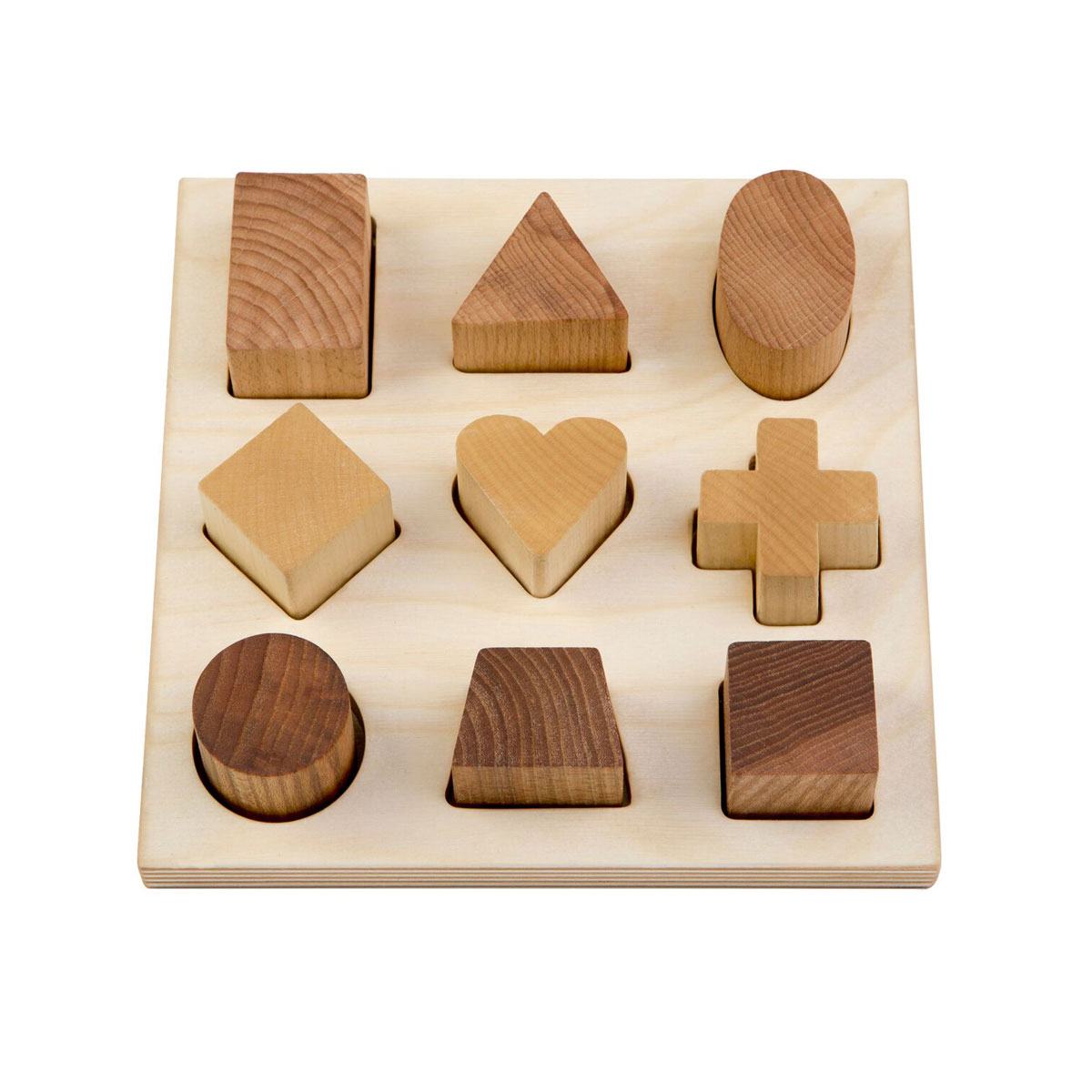 Wooden Story Natural Shape Puzzle