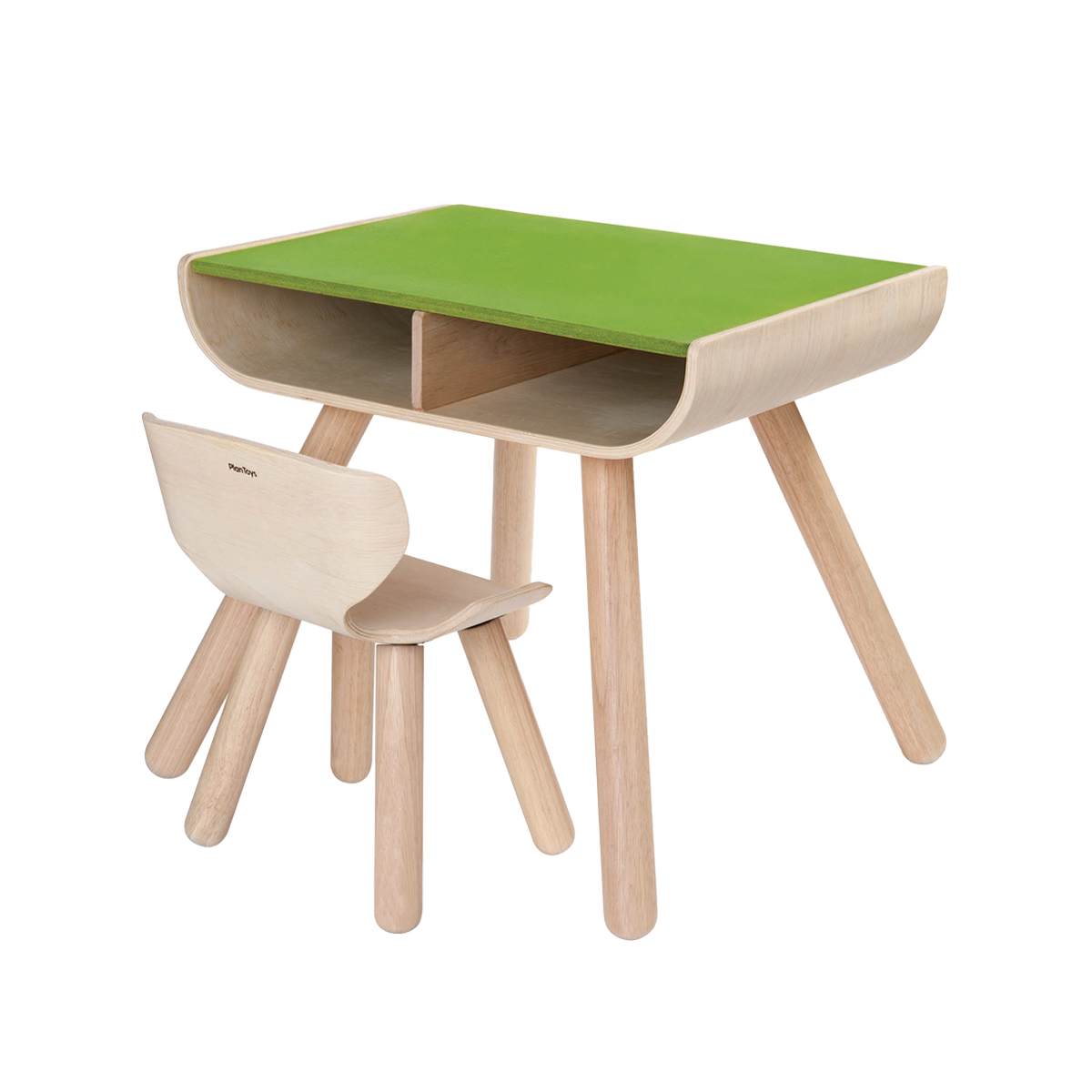 Plan Toys Desk & Chair Green