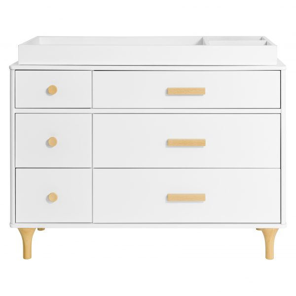 Babyletto Lolly 6 Drawer Double Dresser White Natural AW19