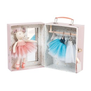 Moulin Rotys ballerina mouse doll set
