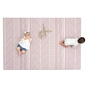 Ruggish Cali Play Rug in Rose