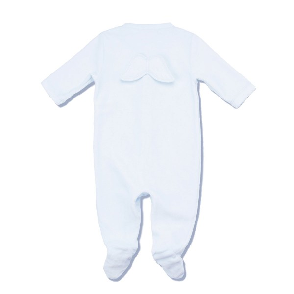0b0a892df Marie-Chantal Baby/Toddler Velour Angel Wing Footie - TheTot