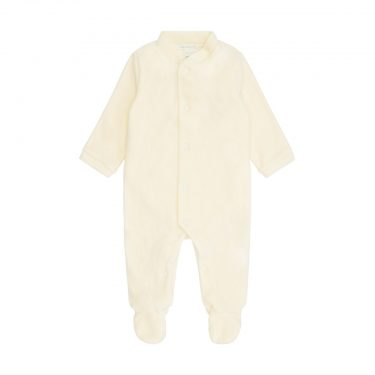 Marie-Chantal Baby/Toddler Velour Gold Angel Wing Sleepsuit - Cream