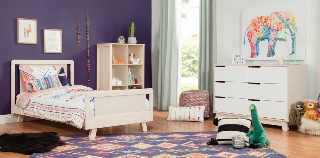 A kids room styled with the Babyletto Hudson Twin bed
