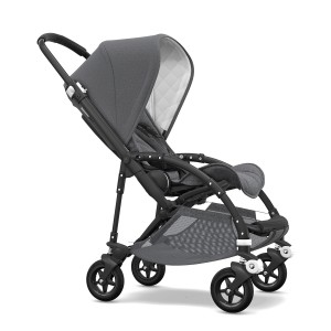 Bugaboo Classic Collection Bee 5 Stroller with black frame & grey melange