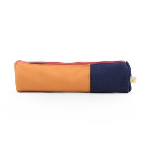 Sticky Lemon Pencil Case Orange & Navy Stripe