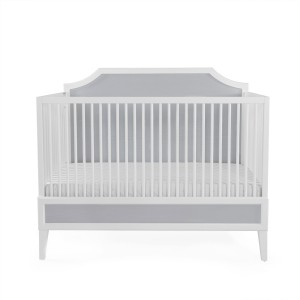 Ducduc Litchfield collection crib white w/ light grey cerused