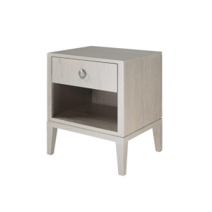 Ducduc Litchfield collection nightstand set of 2 solid color glaze silver on oak