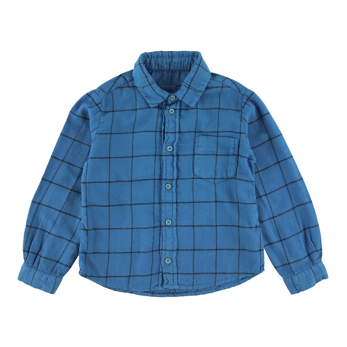 Morley Long Sleeve Blue Check Shirt