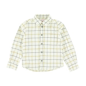 Morley Long Sleeve Cream Check Shirt