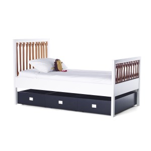 DucDuc Campaign Twin Bed with Drawers White, Cinnamon & Old Navy