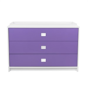 DucDuc Campaign Changer 3 Drawer White with Crocus Petal