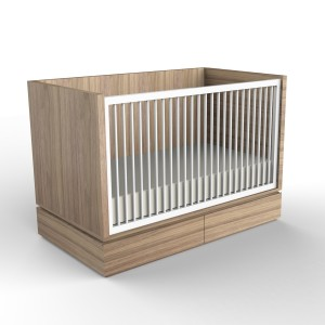 DucDuc Dylan Crib Bleached Walnut with White
