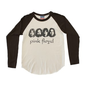 Junk Food Clothing Baseball Tee with Pink Floyd Faces