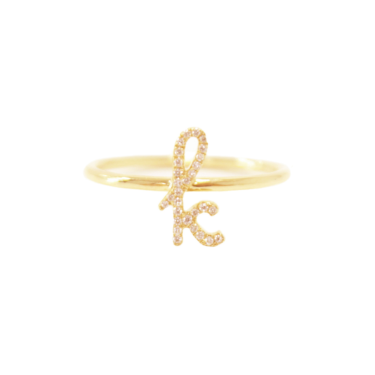 Sue Gragg Diamond Initial Ring