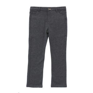Crew Cotton Knit Pants in Charcoal