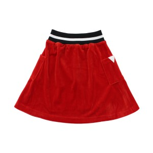 Crew Butter Velour Skirt in Red
