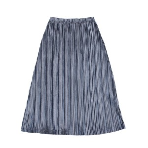 Crew Velour Maxi Skirt in Silver