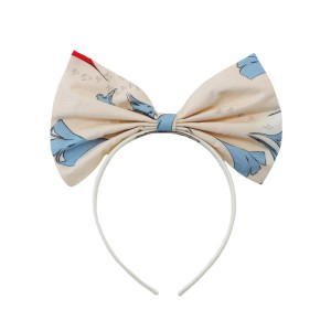 Hucklebones Bow Headband in Ginkgo Waltz Print