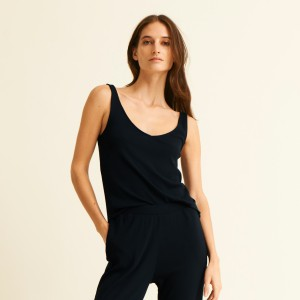 Skin Nadira Sleep Tank in Black