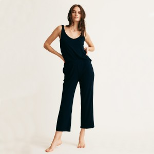 Skin Noelle Crop Sleep Pant in Black