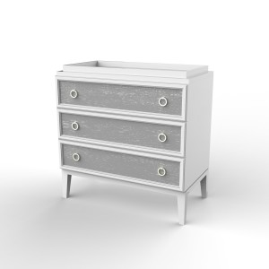Ducduc Litchfield collection 3 drawer change table white with light grey cerused