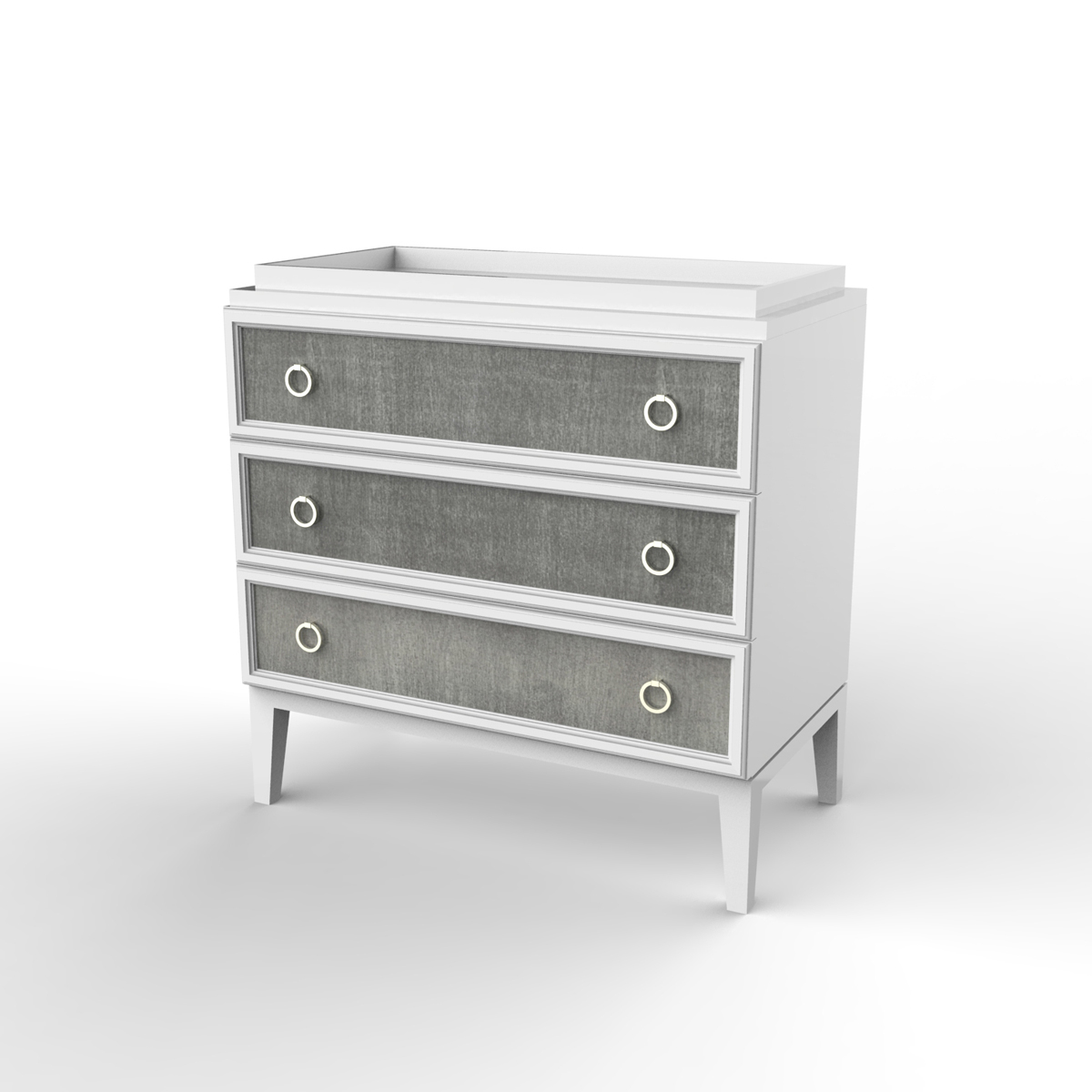 Ducduc Litchfield collection 3 drawer change table white with weathered