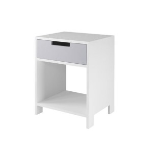 DucDuc Parker Nightstand White with Light Grey